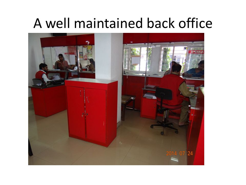 A well maintained back office