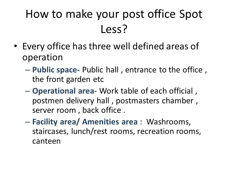 Spotless recreation club All the equipment's in the room should be arranged in pleasing manner After use, the equipment's should be placed in their proper place Do not throw around the carom coins, carom powder boxes, chess coins, dumbbells etc around the room Keep the mat folded, if not in use.
