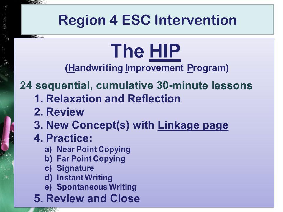 Region 4 ESC Intervention