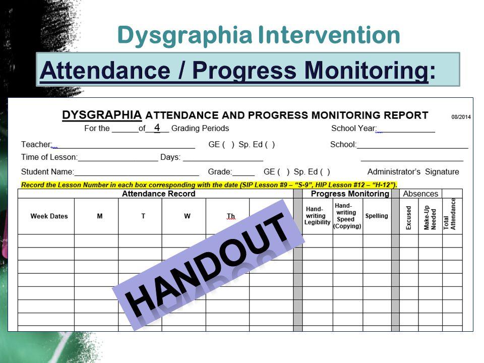 Dysgraphia Intervention