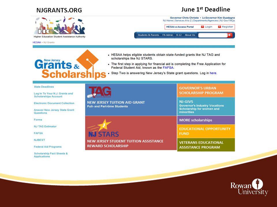 NJGRANTS.ORG June 1 st Deadline