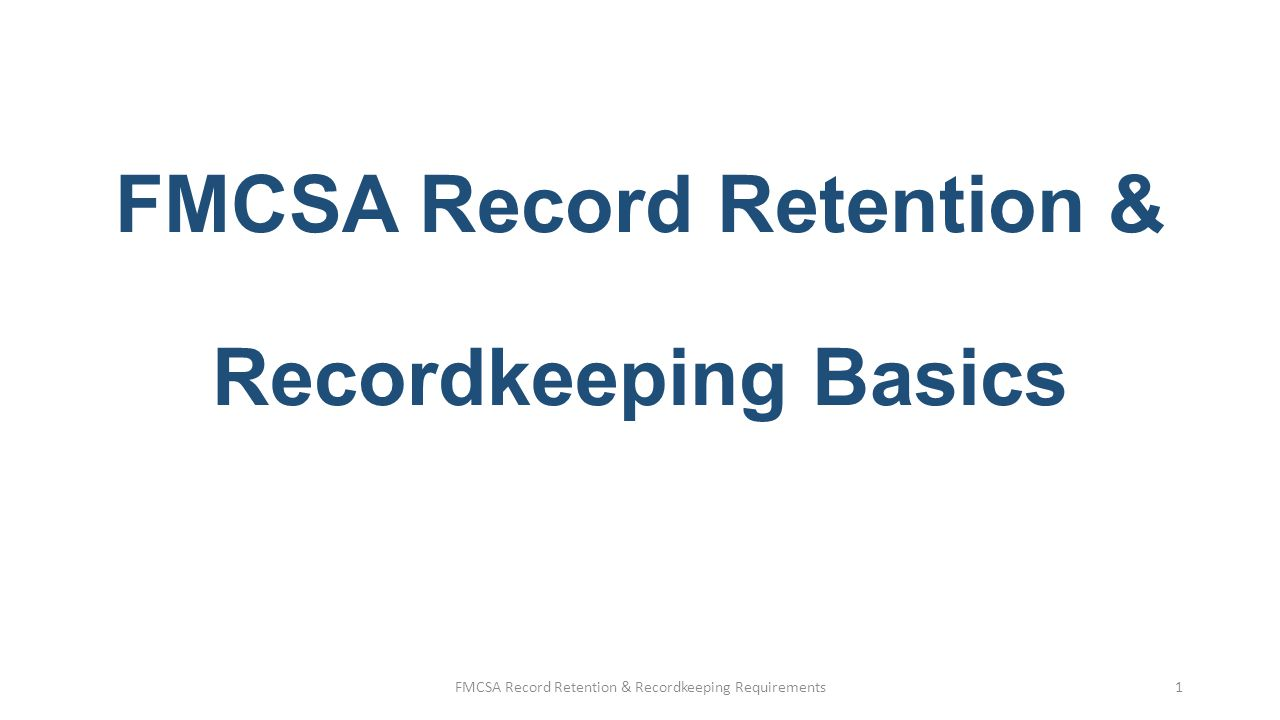 FMCSA Recordkeeping Basics §390.29, Location of records or documents.