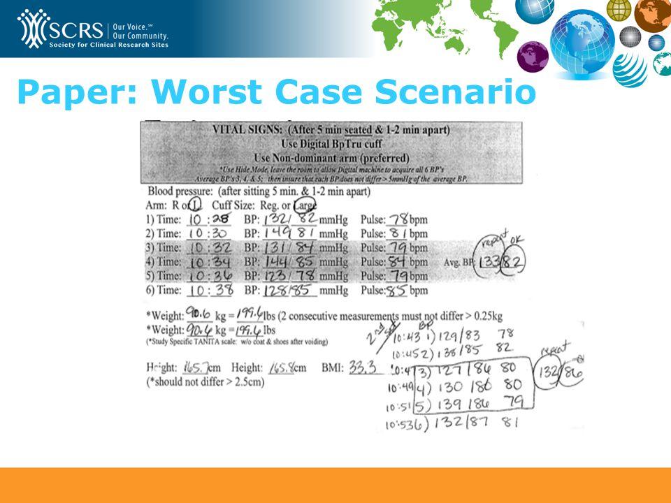 Paper: Worst Case Scenario