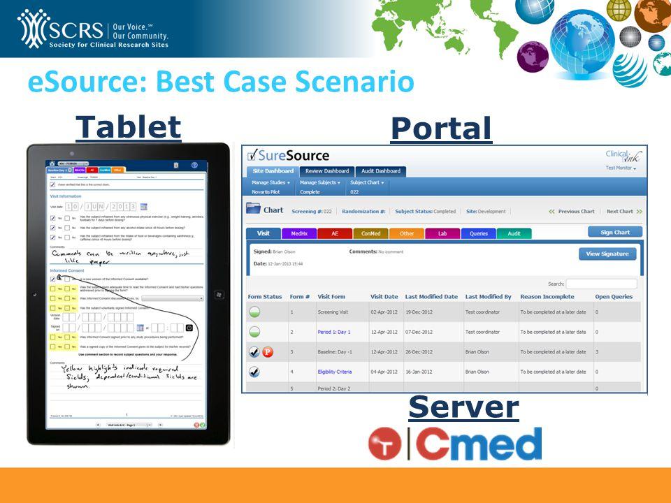 eSource: Best Case Scenario Tablet Portal Server