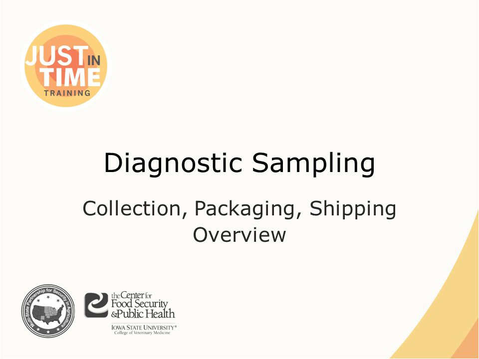 Diagnostic Sampling Collection, Packaging, Shipping Overview