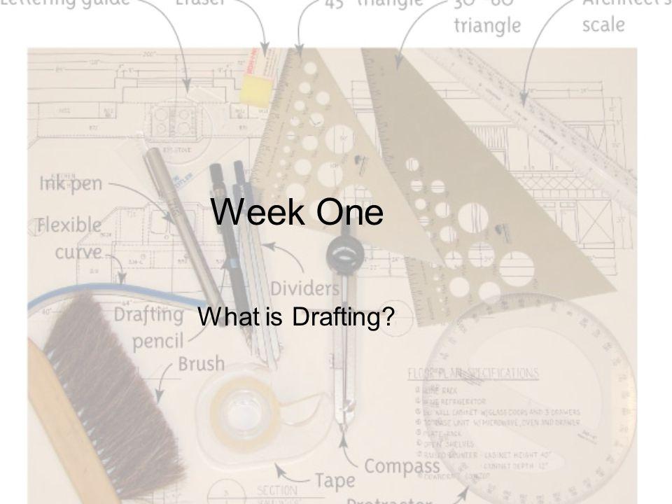 Week One What is Drafting?