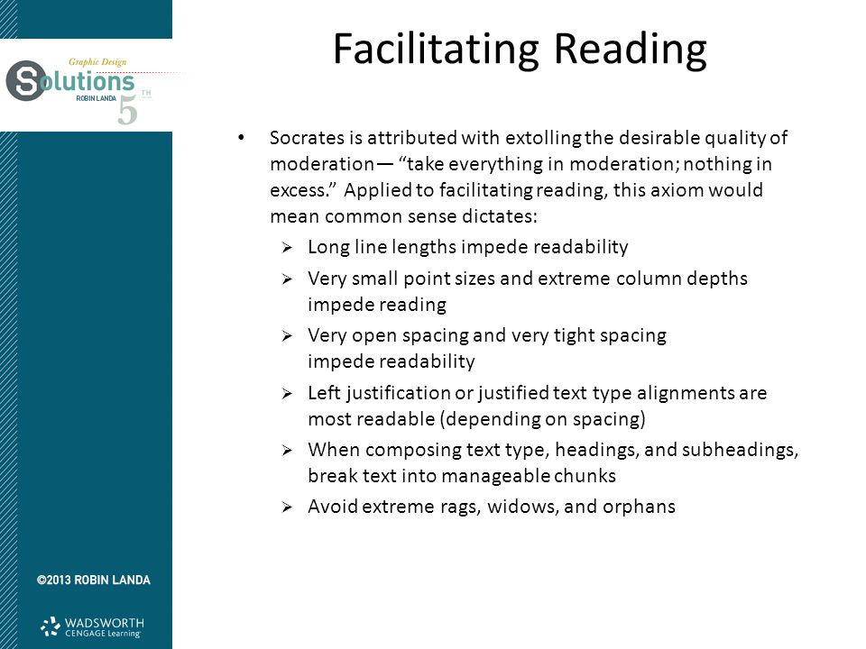 "Facilitating Reading Socrates is attributed with extolling the desirable quality of moderation— ""take everything in moderation; nothing in excess."" Ap"