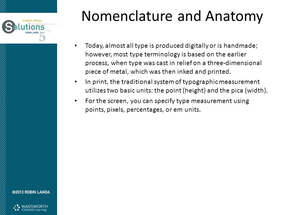 Nomenclature and Anatomy Metal Type Terms Martin Holloway Graphic Design, Pittstown, NJ