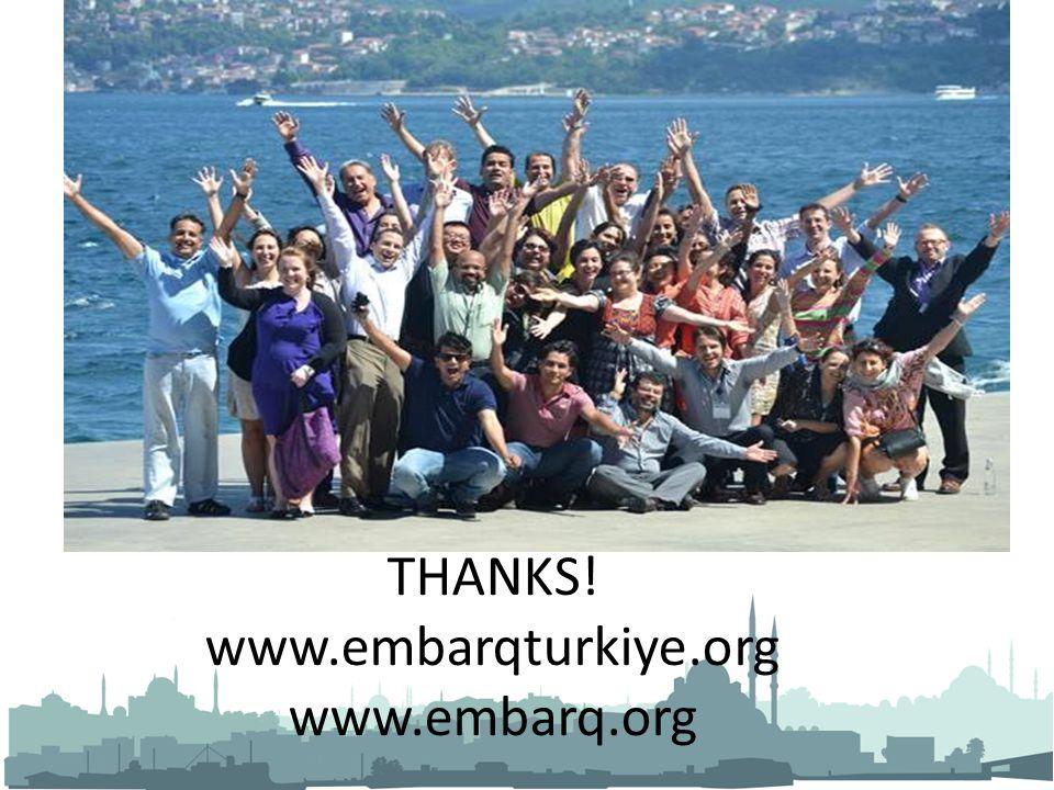 THANKS! www.embarqturkiye.org www.embarq.org