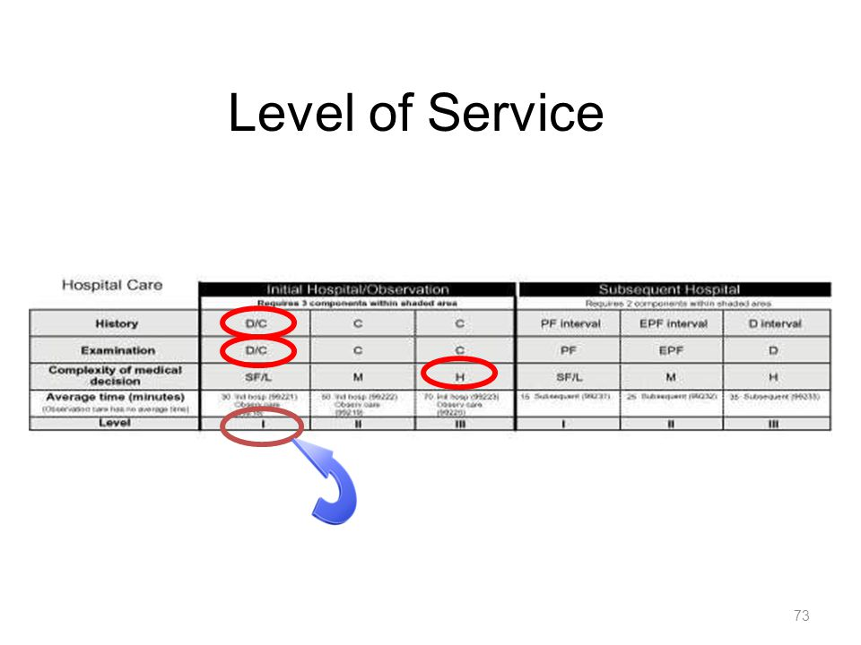 Level of Service 73