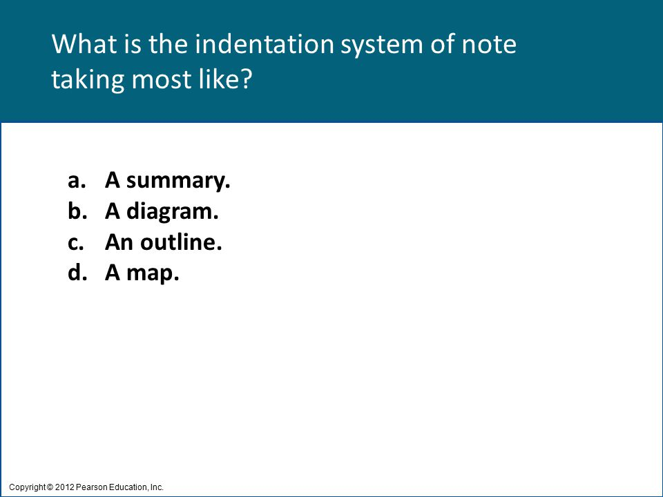 What is the indentation system of note taking most like.