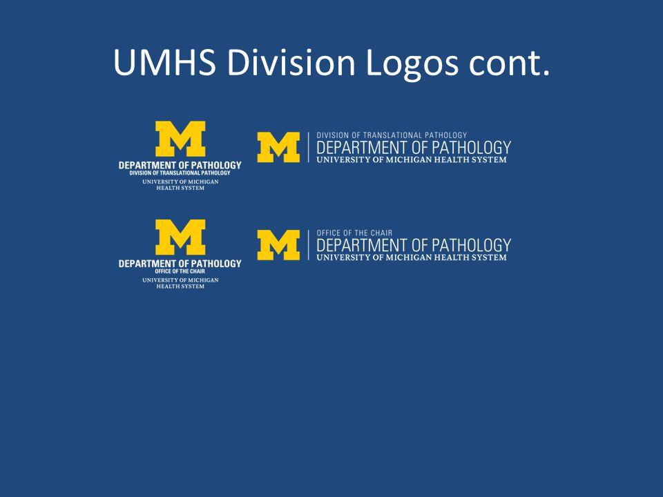 UMHS Division Logos cont.