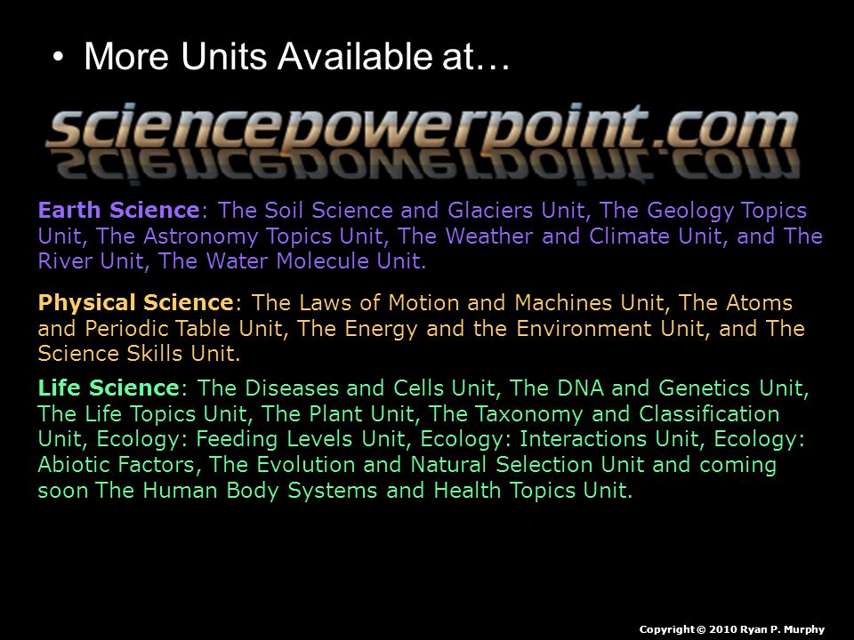 More Units Available at… Earth Science: The Soil Science and Glaciers Unit, The Geology Topics Unit, The Astronomy Topics Unit, The Weather and Climat
