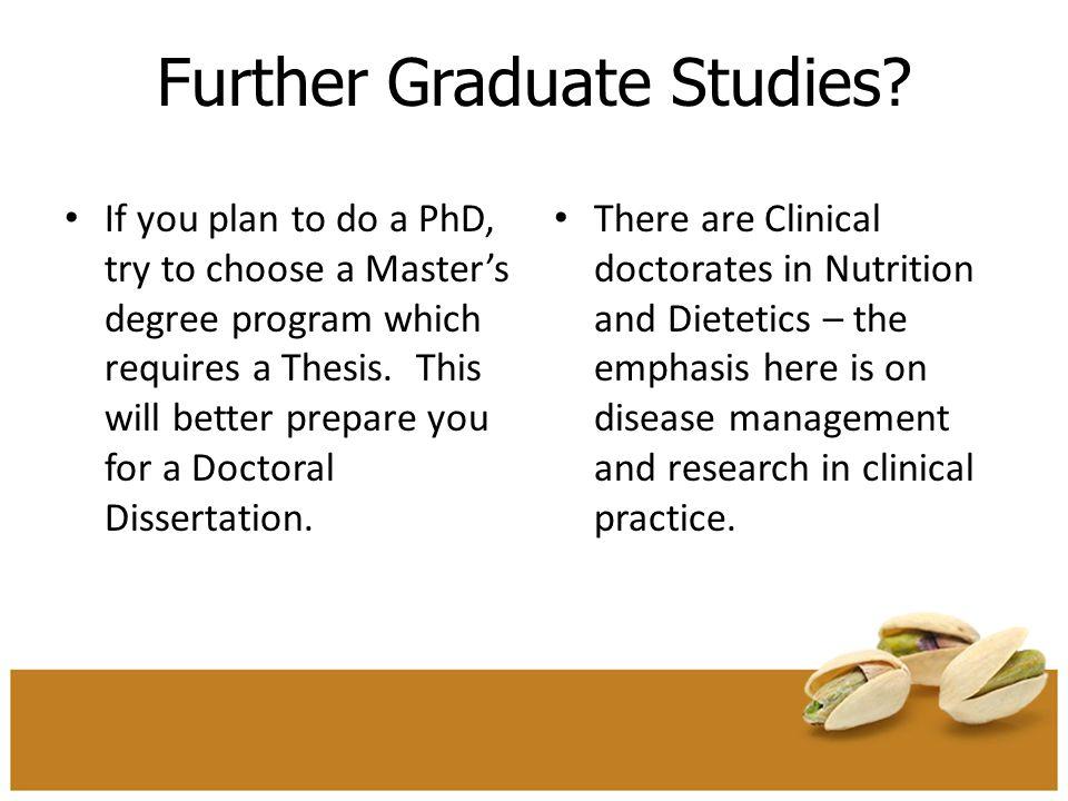 Further Graduate Studies.