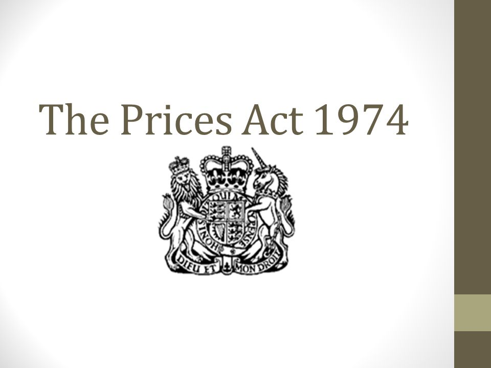 The Prices Act 1974