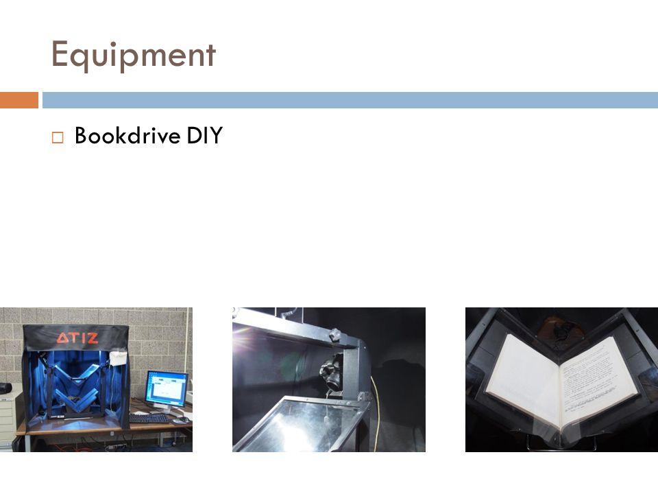 Equipment  Bookdrive DIY