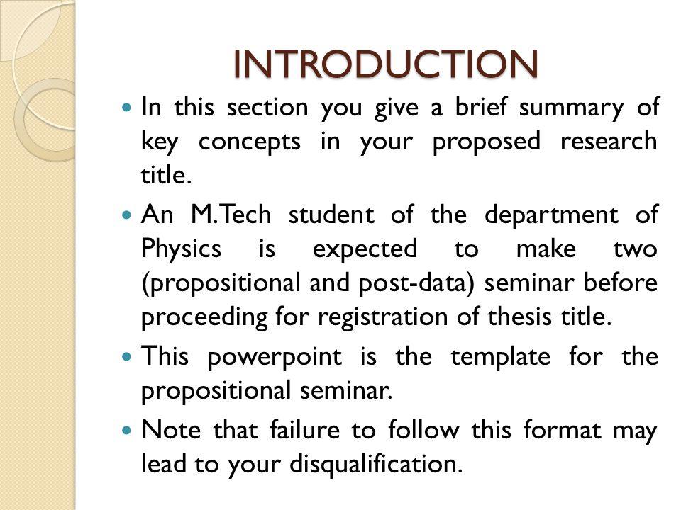 Thesis Proposal Presentation