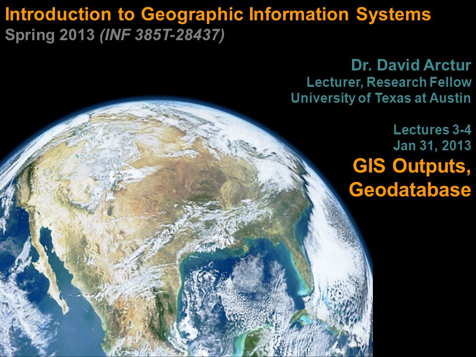 Multiple maps  Separate data frames 22 INF385T(28437) – Spring 2013 – Lecture 3