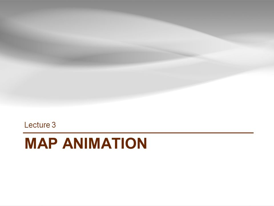 MAP ANIMATION Lecture 3 34 INF385T(28437) – Spring 2013 – Lecture 3