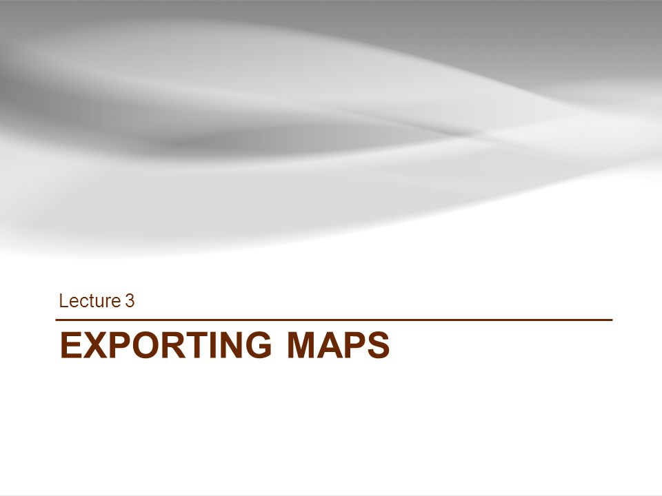 EXPORTING MAPS Lecture 3 38 INF385T(28437) – Spring 2013 – Lecture 3