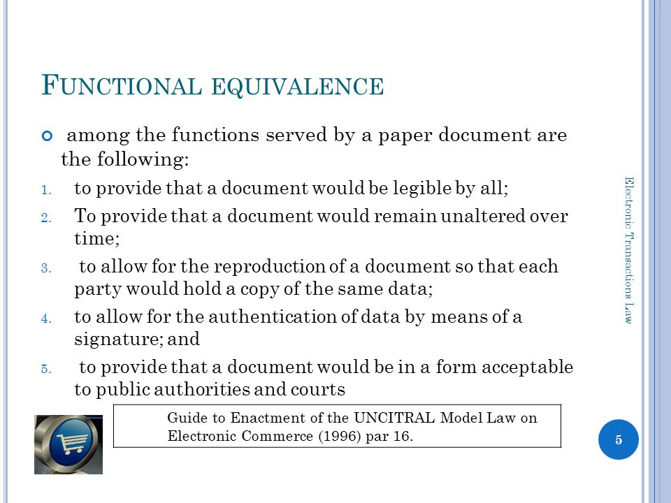 F UNCTIONAL EQUIVALENCE among the functions served by a paper document are the following: 1.