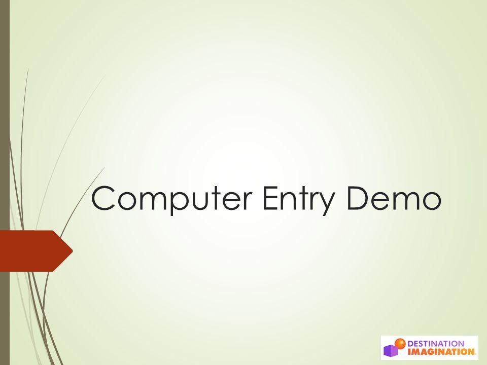 Computer Entry Demo