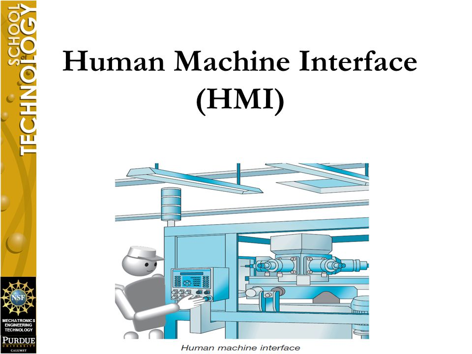 MECHATRONICS ENGINEERING TECHNOLOGY  What is an HMI .