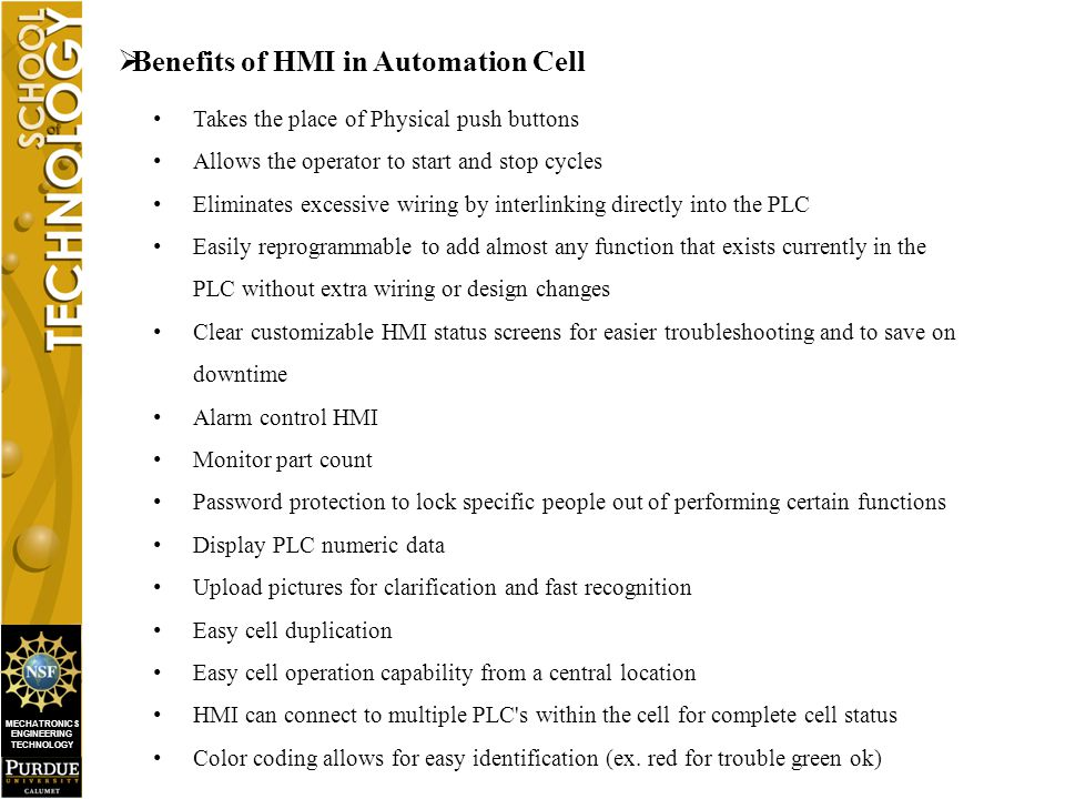 MECHATRONICS ENGINEERING TECHNOLOGY  Basic Functionalities of Industrial HMI Unit.