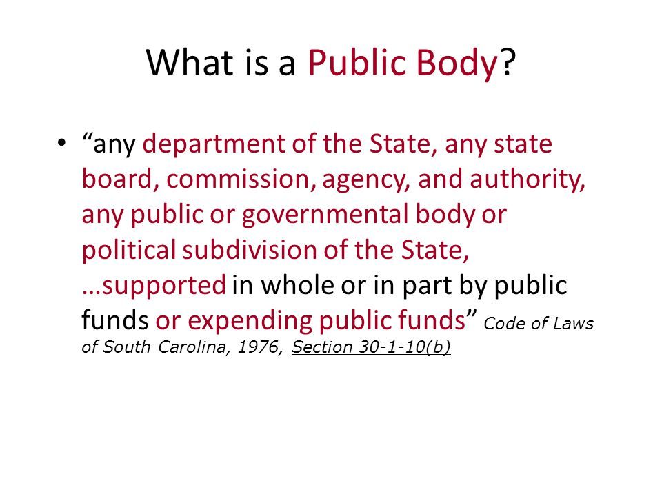 What is a Public Body.
