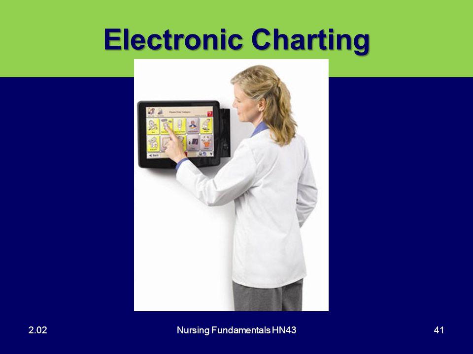 Nursing Fundamentals HN4341 Electronic Charting 2.02