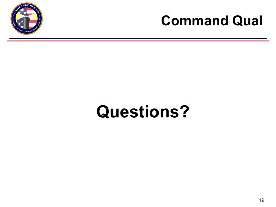 Questions Command Qual 19