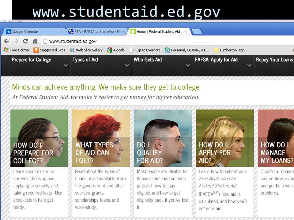 www.studentaid.ed.gov