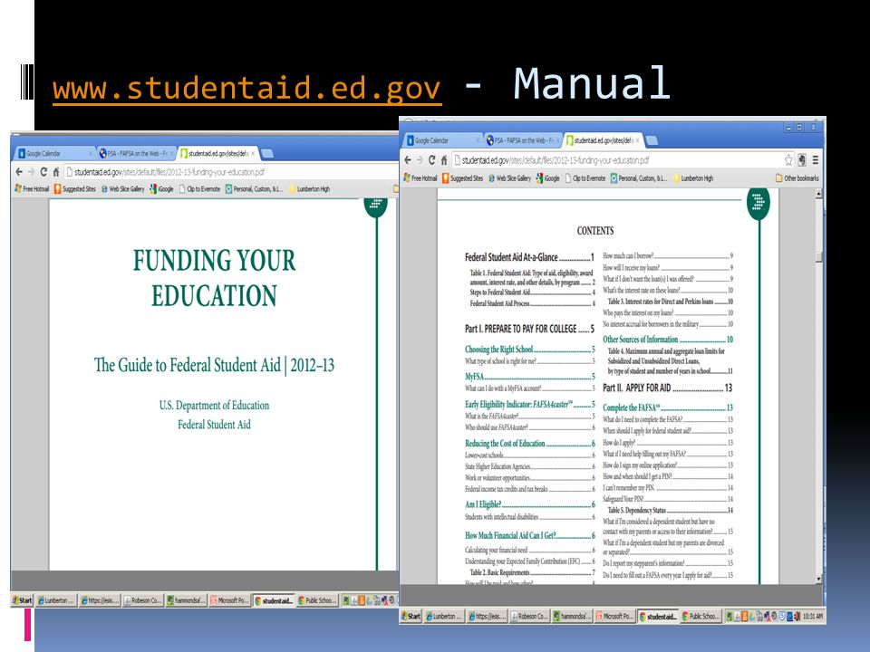 www.studentaid.ed.gov - Manual