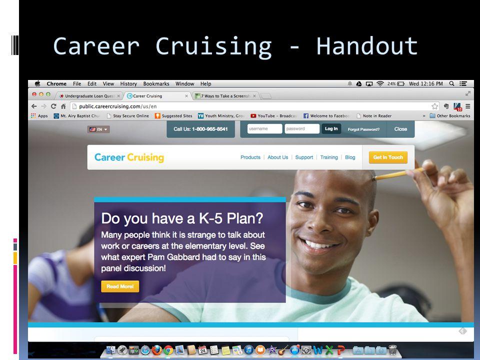 Career Cruising - Handout