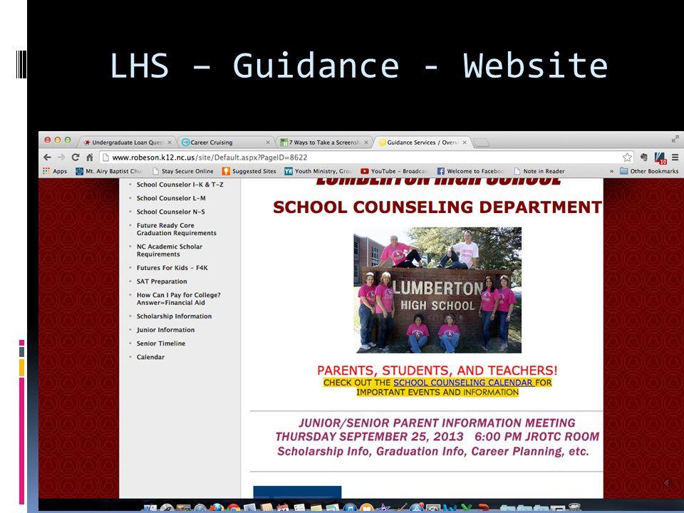LHS – Guidance - Website