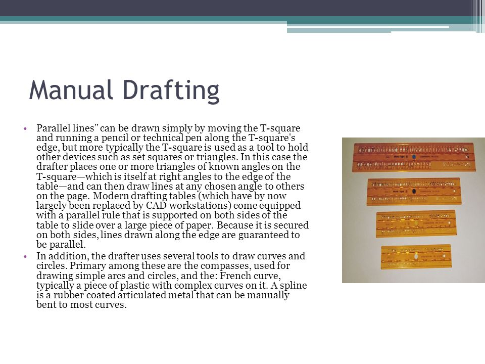 Manual Drafting Parallel lines