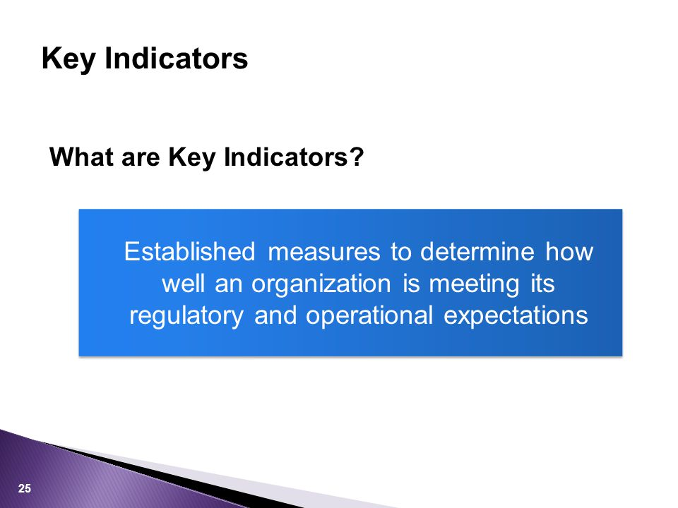 What are Key Indicators.
