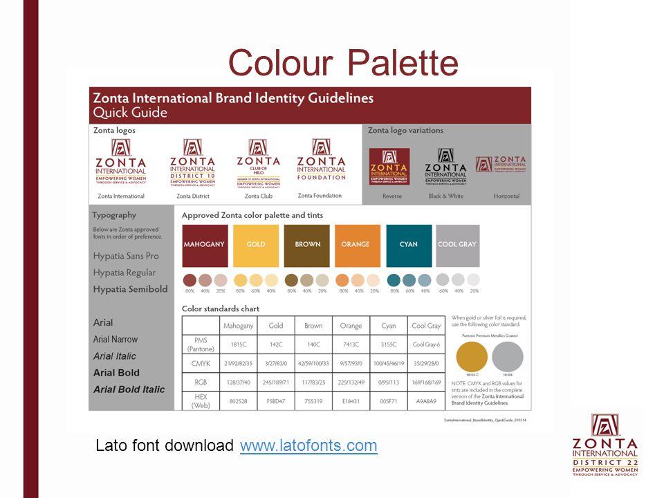 Colour Palette Lato font download www.latofonts.com