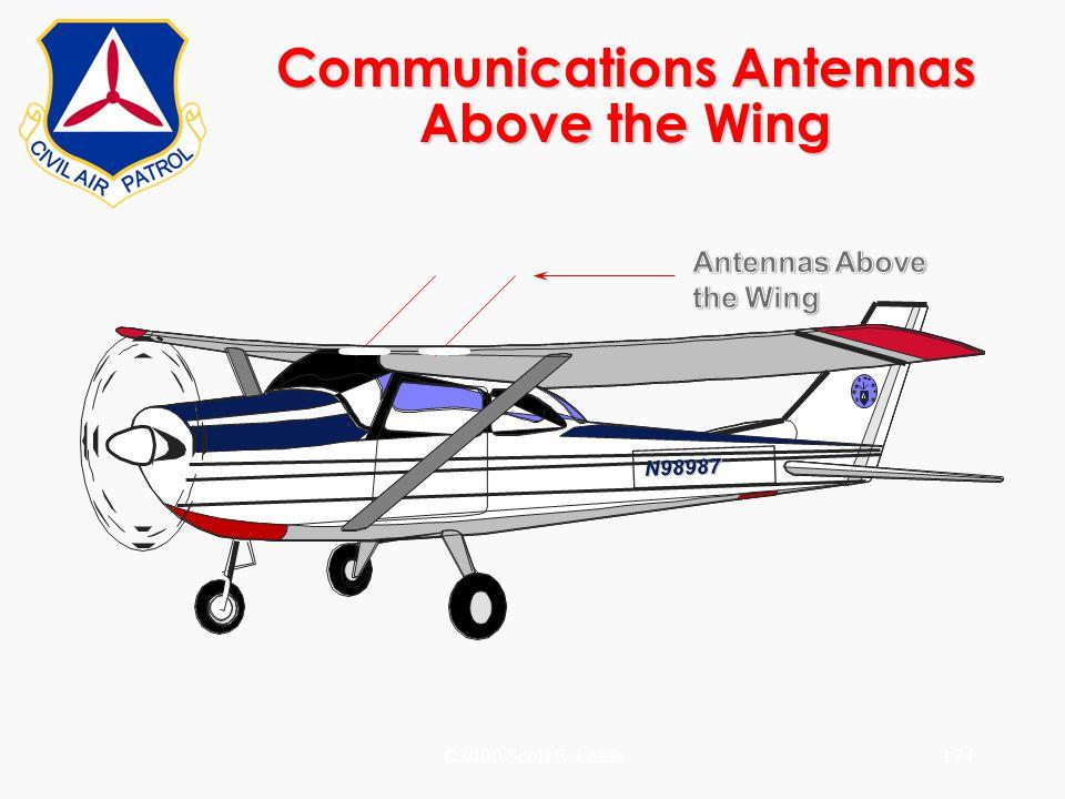 ©2000 Scott E. Lanis174 Communications Antennas Above the Wing N98987