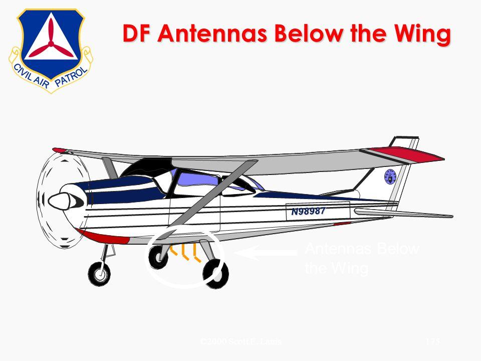 ©2000 Scott E. Lanis175 DF Antennas Below the Wing N98987 Antennas Below the Wing