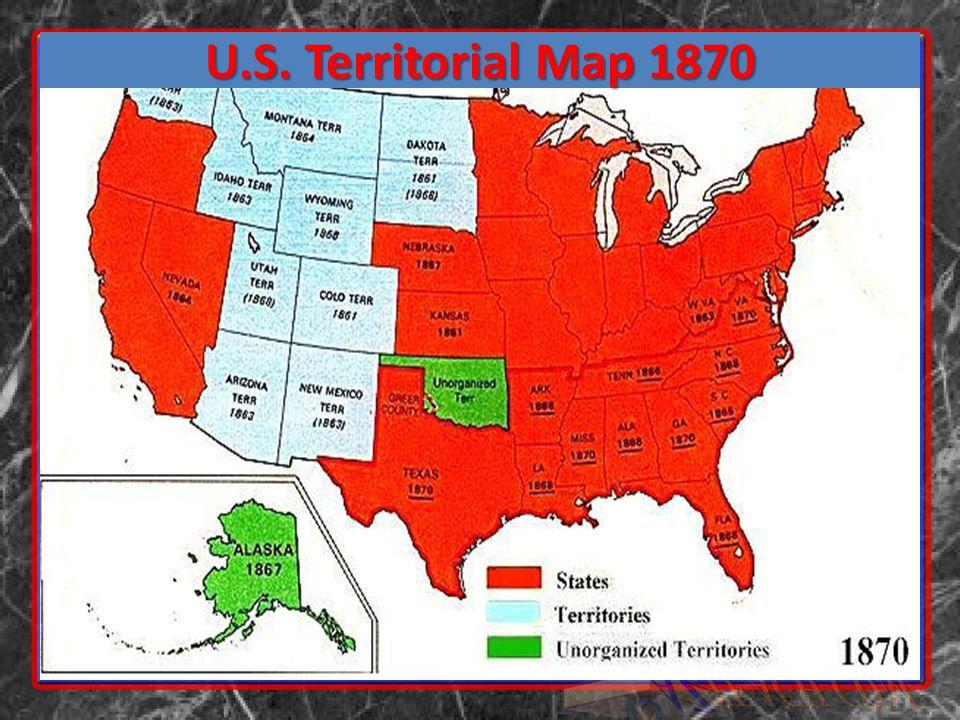 U.S. Territorial Map 1870