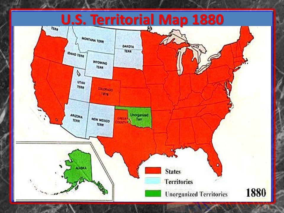 U.S. Territorial Map 1880