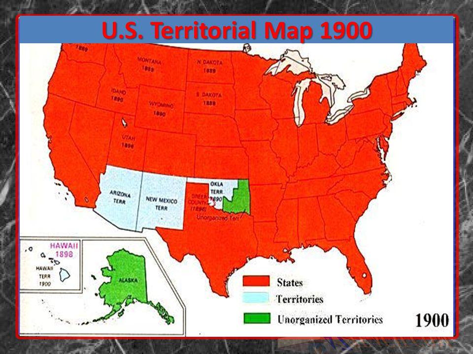 U.S. Territorial Map 1900