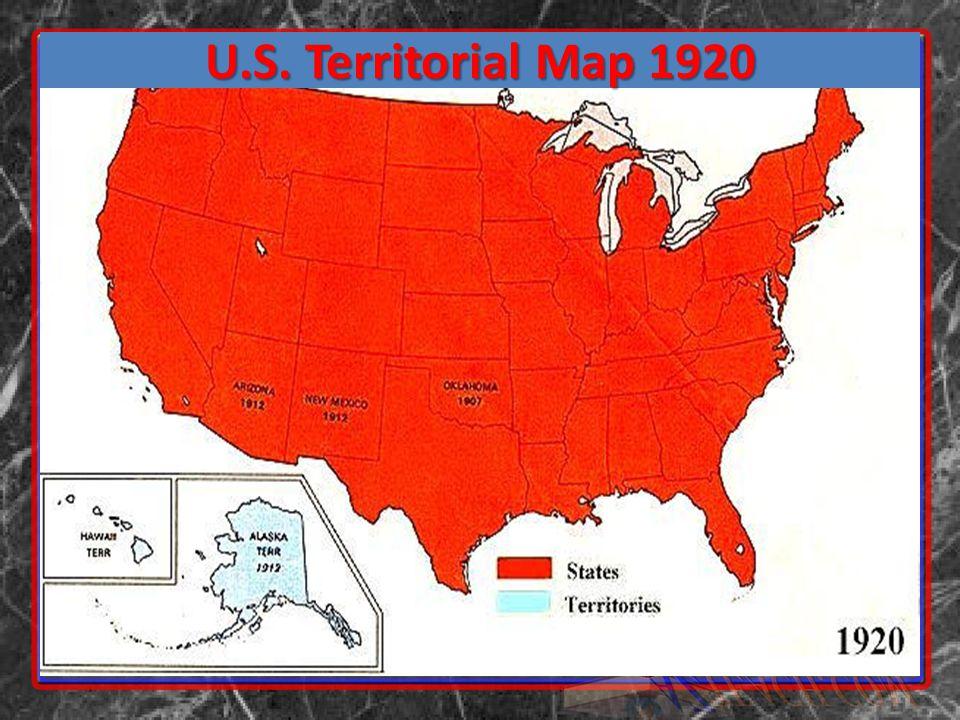 U.S. Territorial Map 1920