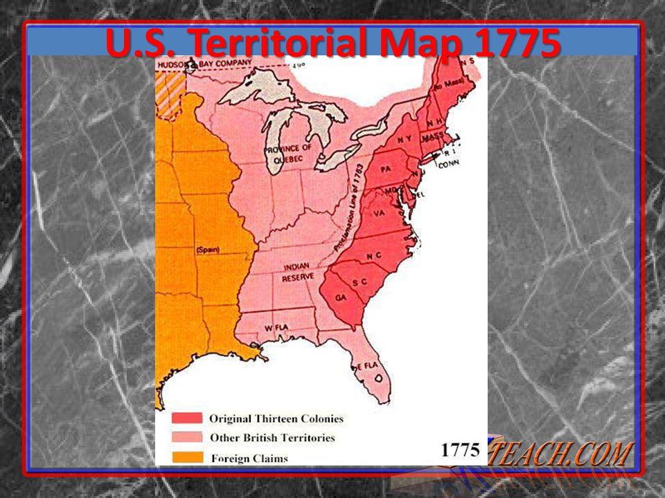 U.S. Territorial Map 1775