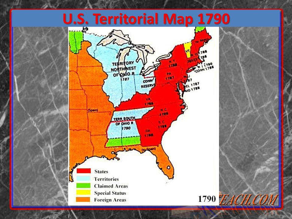 U.S. Territorial Map 1790