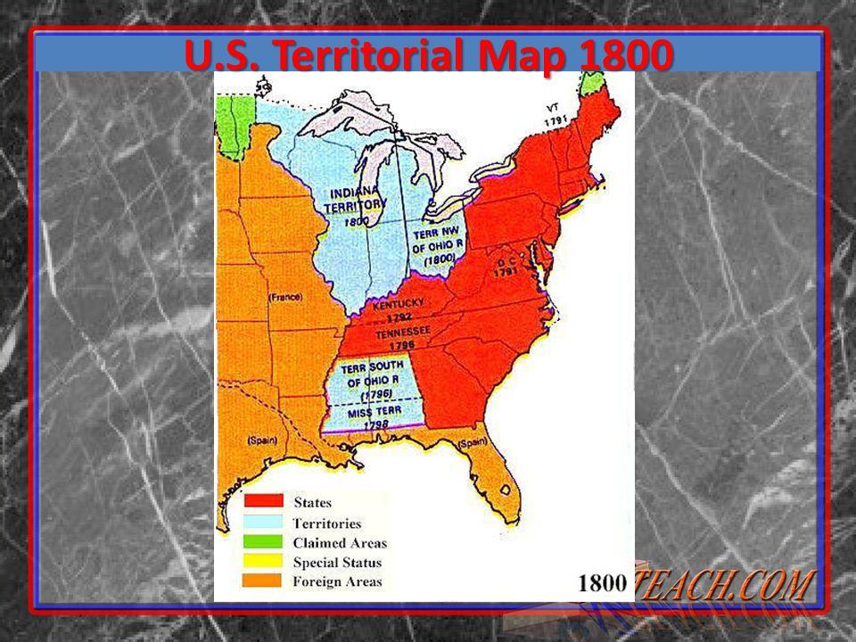 U.S. Territorial Map 1800