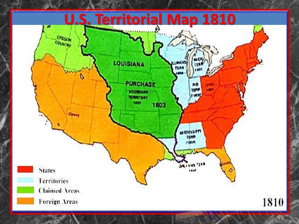U.S. Territorial Map 1810