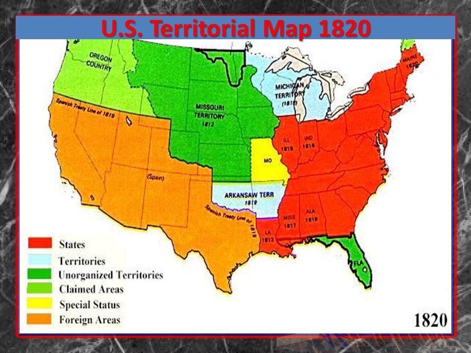 U.S. Territorial Map 1820