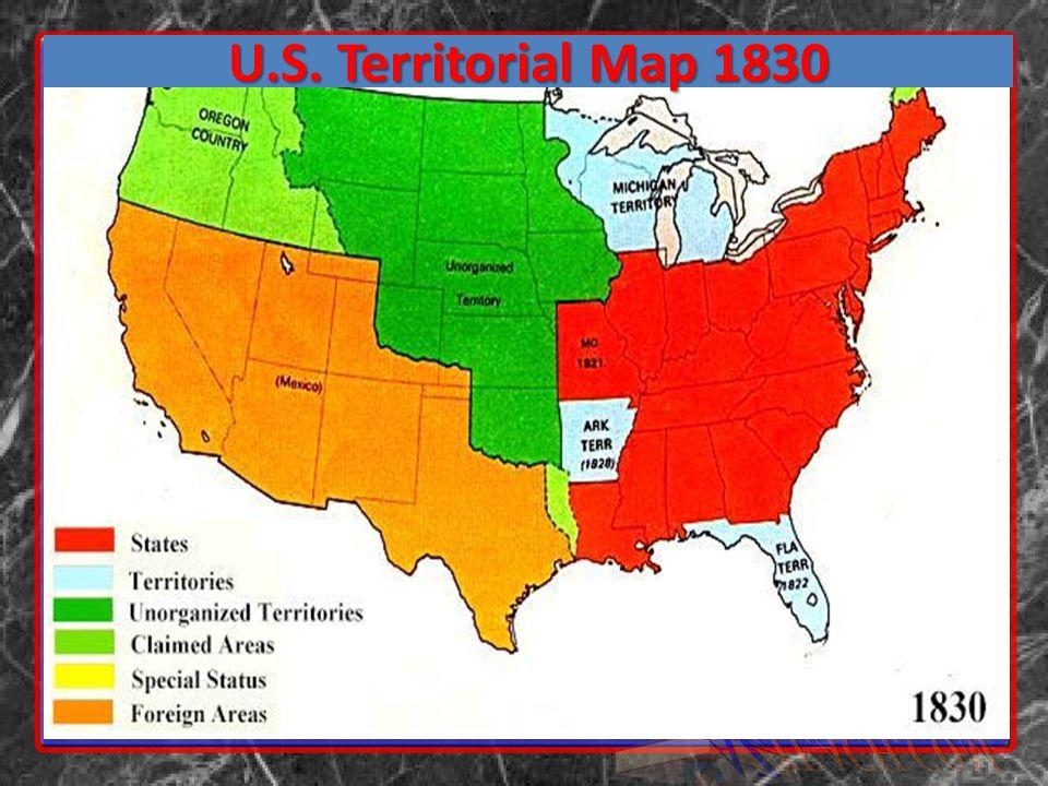 U.S. Territorial Map 1830
